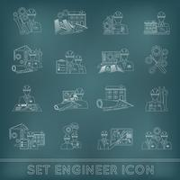 Ingenieur pictogram overzicht