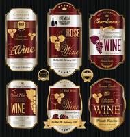 Luxe gouden wijnetiket vector