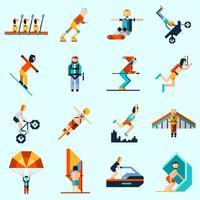Extreme sporten pictogrammen