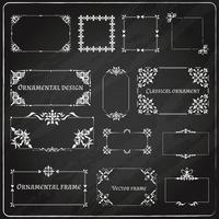 Decoratieve ontwerphoeken ingesteld
