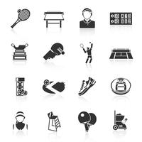 Tennis pictogrammen zwart vector