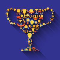 Award decoratieve pictogrammen
