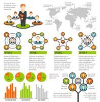 Verbonden mensen infographics vector