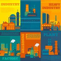 Industrie poster set vector