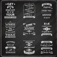Succes citaten stellen schoolbord vector