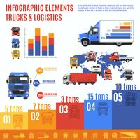 vrachtwagen infographic set vector