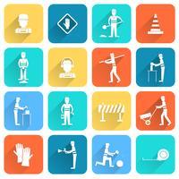 Wegwerker platte pictogram