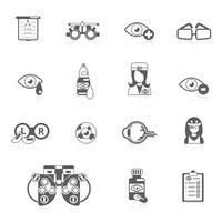 Oculist zwarte pictogrammen vector
