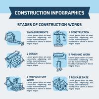 Bouw Infographics schets vector