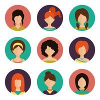 Vrouwen avatar set vector