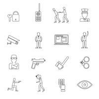Beveiliging Overzicht Iconen vector