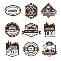 taxi zwart label set vector