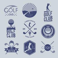 Golfclub label vector