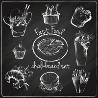 Fast-food pictogram schoolbord