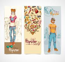 Hipster banners verticaal vector