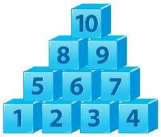 Nummerblok van één tot tien