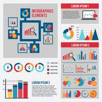 Zakelijke grafiek infographics set vector
