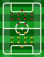 Voetbalstadion Bovenaanzicht vector