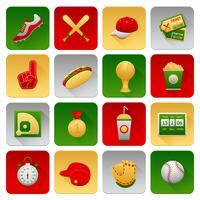 Honkbal Icons Set vector
