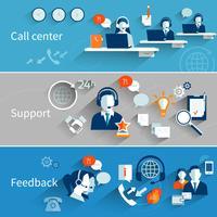 Banners voor klantenservice vector
