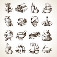 Spa schets iconen