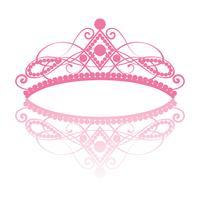 diadeem. elegantie vrouwelijke tiara met reflectie vector