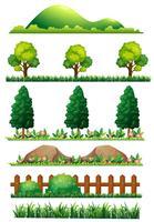 Een reeks aardelementen