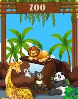 Wilde dieren in de dierentuin vector
