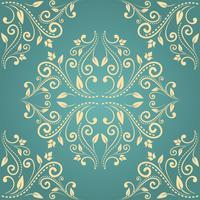 Floral damast naadloze patroon achtergrond