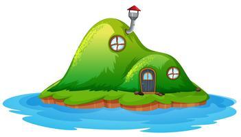 Betoverde feeënhuis op het eiland