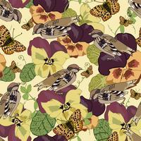 Vintage bloemen naadloos patroon vector
