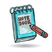 Notitie Boek schets vector