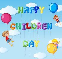 Gelukkige kinderen dagsjabloon