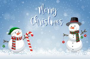 Merry christmas winter sjabloon vector