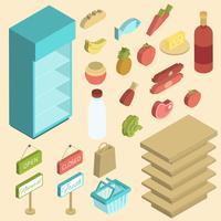 Supermarkt pictogram isometrisch