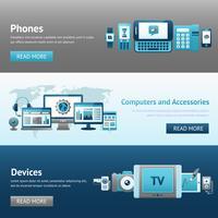 Apparaten ontwerp banner set vector