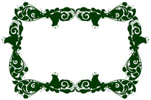 Grensmalplaatje met groen patroon