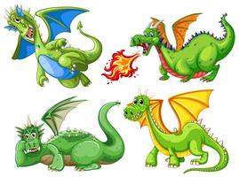 Set van groene draak