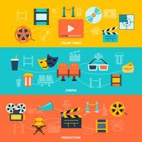 Cinema horizontale banners instellen vector