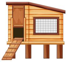 Kippenhok gemaakt van hout vector