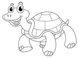 Dierlijke schets voor schattige schildpad