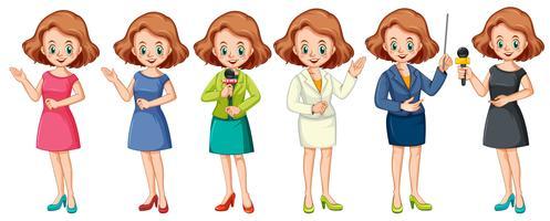 Het huidige professionele karakter van het meisje vector
