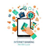 Toepassing internetbankieren vector
