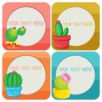 Grensmalplaatje met cactusinstallaties