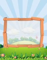 Frame ontwerp met park achtergrond vector