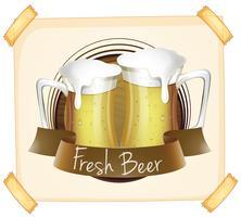 Poster met vers bier