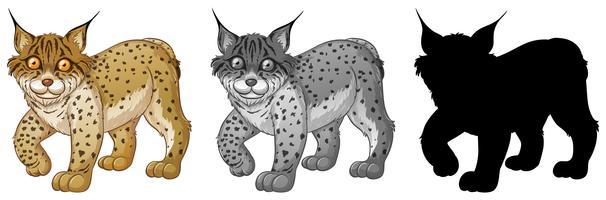 Set van lynx karakter