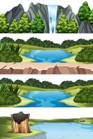Set van verschillende natuurtaferelen