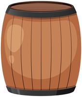 Een houten vat op witte achtergrond