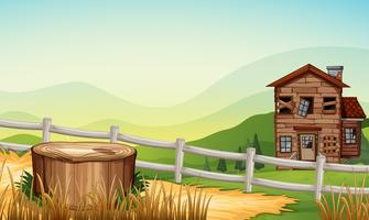 Oud huis op het platteland